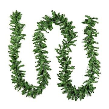 XXL Tannengirlande aus Kunststoff / elastische Tannenzweiggirlande 540 cm / Adventsdekoration für innen und außen / Weihnachtsgirlande zum Dekorieren und Schmücken - 3