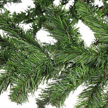 XXL Tannengirlande aus Kunststoff / elastische Tannenzweiggirlande 540 cm / Adventsdekoration für innen und außen / Weihnachtsgirlande zum Dekorieren und Schmücken - 4