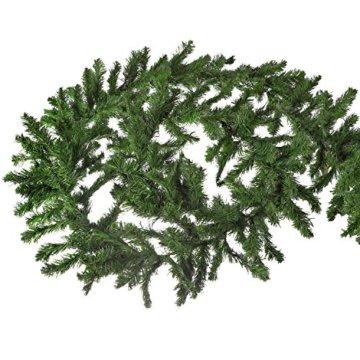 XXL Tannengirlande aus Kunststoff / elastische Tannenzweiggirlande 540 cm / Adventsdekoration für innen und außen / Weihnachtsgirlande zum Dekorieren und Schmücken - 5