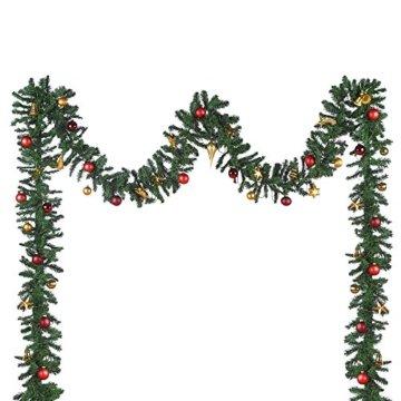 XXL Tannengirlande aus Kunststoff / elastische Tannenzweiggirlande 540 cm / Adventsdekoration für innen und außen / Weihnachtsgirlande zum Dekorieren und Schmücken - 6