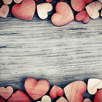 YANSHON 400 STK Holzscheiben Deko zum Basteln Holzscheiben Herz klein Holzherz Dekoration Streu Deko Tischdeko Verzierungen für DIY Handwerk Hochzeit Weihnachten Geburtstag Taufe Herzen - 5