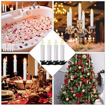 YAOBLUESEA 40stk Weinachten LED Kerzen Lichterkette Kabellos Weihnachtskerzen Christbaumschmuck Weihnachtsbaumbeleuchtung mit Fernbedienung Kabellos für Weihnachtsbaum Weihnachtsdeko Hochzeit - 5