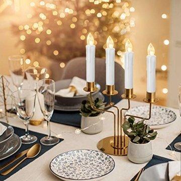 YAOBLUESEA 40stk Weinachten LED Kerzen Lichterkette Kabellos Weihnachtskerzen Christbaumschmuck Weihnachtsbaumbeleuchtung mit Fernbedienung Kabellos für Weihnachtsbaum Weihnachtsdeko Hochzeit - 7