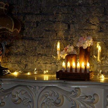 Yorbay 20er kabellose LED Kerzen Weihnachtsdeko IP64 wasserdicht RGB&Warmweiß mit Batterien, Dimmbar mit Fernbedienung und Timerfunktion, als Dekoration für Weihnachten, Weihnachtsbaum (Mehrweg) - 3