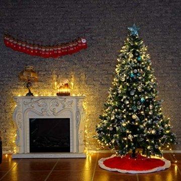 Yorbay 20er kabellose LED Kerzen Weihnachtsdeko IP64 wasserdicht RGB&Warmweiß mit Batterien, Dimmbar mit Fernbedienung und Timerfunktion, als Dekoration für Weihnachten, Weihnachtsbaum (Mehrweg) - 10