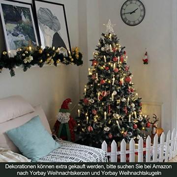 Yorbay Weihnachtsbaum Tannenbaum mit Ständer 120cm-240cm für Weihnachten-Dekoration Mehrweg (Weihnachtsbaum mit Schnee, 180cm) - 6