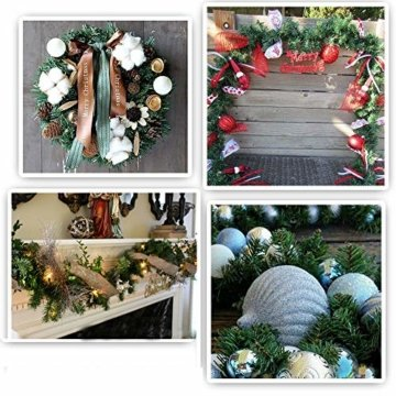 YQing 2 Stück 5.5 m Tannengirlande aus Kunststoff Grün Weihnachtsgirland Weihnachten Girlande, Weihnachtsdeko Türkranz Weihnachten Garland - 4