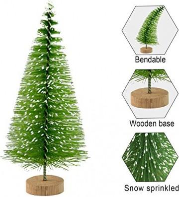 YWCTing ILOVEDIY 10Stück Weihnachtsbaum Künstlich Klein Weihnachtsdeko 4.5cm 6.5cm 12.5cm (Grün, Höhe 4.5cm-10Stück) - 2