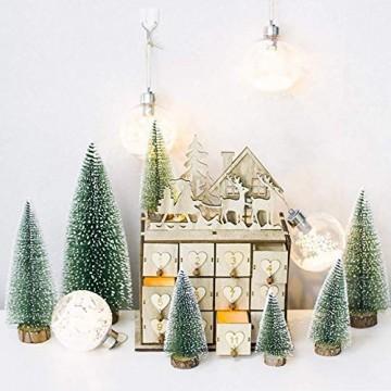 YWCTing ILOVEDIY 10Stück Weihnachtsbaum Künstlich Klein Weihnachtsdeko 4.5cm 6.5cm 12.5cm (Grün, Höhe 4.5cm-10Stück) - 3