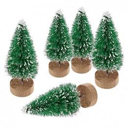 YWCTing ILOVEDIY 10Stück Weihnachtsbaum Künstlich Klein Weihnachtsdeko 4.5cm 6.5cm 12.5cm (Grün, Höhe 4.5cm-10Stück) - 1