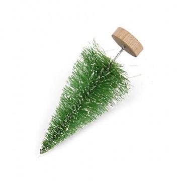 YWCTing ILOVEDIY 10Stück Weihnachtsbaum Künstlich Klein Weihnachtsdeko 4.5cm 6.5cm 12.5cm (Grün, Höhe 4.5cm-10Stück) - 4