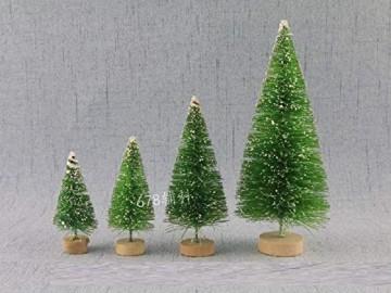YWCTing ILOVEDIY 10Stück Weihnachtsbaum Künstlich Klein Weihnachtsdeko 4.5cm 6.5cm 12.5cm (Grün, Höhe 4.5cm-10Stück) - 5