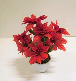 Ziegler Weihnachtsstern Kunstblume Kunstpflanze rot H 36 cm TC-83384 getopft F57 - 1