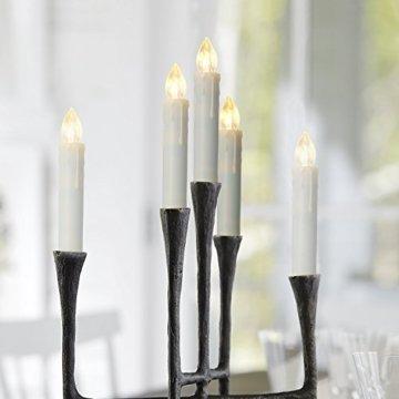 20er LED Kerzen mit Batterien, Timer und Fernbedienung, IP64 Dimmbar Kerzenlichter Flammenlose Weihnachtskerzen für Weihnachtsbaum, Weihnachtsdeko, Hochzeit, Geburtstags, Party - 4