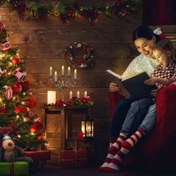 30er LED Weihnachtskerzen RGB Warmweiß mit Halter Set Batterien Fernbedienung Timer, IP64 wasserdichte Kerzen Lichterkette für Auß-Innen Weihnachtsbaum Fenster Garten Geburtstag Party Deko (Beige 30x) - 9