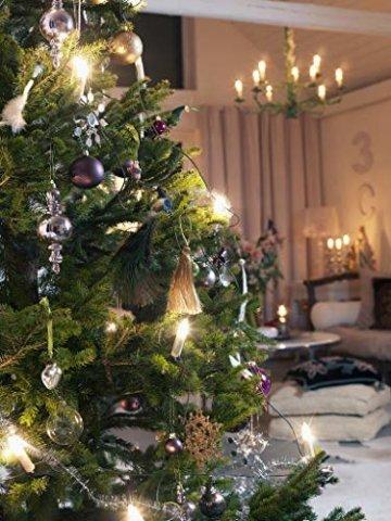 40er Weinachten LED Kerzen Kabellos RGB Weihnachtskerzen Christbaumkerzen Dimmen Flackern Baumkerze-Set,LED-Lichtfarbe RGB + warmweiß - 3