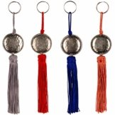 4er Set Orientalische Schlüsselanhänger 18cm (2) | Marokkanische Christbaumschmuck als Dankeschön Geschenke | Quasten mit Schlüsselring als Taschenanhänger Deko Anhänger für Auto Handy Rucksack - 1