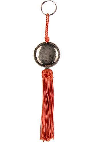 4er Set Orientalische Schlüsselanhänger 18cm (2) | Marokkanische Christbaumschmuck als Dankeschön Geschenke | Quasten mit Schlüsselring als Taschenanhänger Deko Anhänger für Auto Handy Rucksack - 6