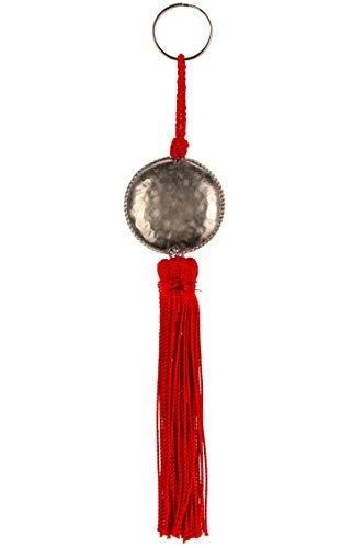 4er Set Orientalische Schlüsselanhänger 18cm (2) | Marokkanische Christbaumschmuck als Dankeschön Geschenke | Quasten mit Schlüsselring als Taschenanhänger Deko Anhänger für Auto Handy Rucksack - 8