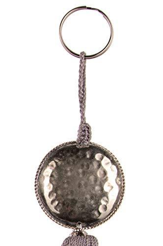 4er Set Orientalische Schlüsselanhänger 18cm (2) | Marokkanische Christbaumschmuck als Dankeschön Geschenke | Quasten mit Schlüsselring als Taschenanhänger Deko Anhänger für Auto Handy Rucksack - 9