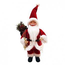 About1988 Weihnachtsmann, Hochwertiger Weihnachtsmann Deko Nikolaus Santa Clause Figur Groß Weihnachts Deko Holz,13 Zoll (FarbeA) - 1
