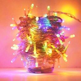 ANKOUJA Lichterkette LED Innen Außen für Weihnachtsbaum IP44 Bunt Lichterkette Strombetrieben Verbindlich 100 leds Memory Funktion 8 Lichtereffekte für Weihnachten - 1