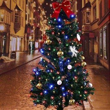ANKOUJA Lichterkette LED Innen Außen für Weihnachtsbaum IP44 Bunt Lichterkette Strombetrieben Verbindlich 100 leds Memory Funktion 8 Lichtereffekte für Weihnachten - 4