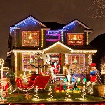 ANKOUJA Lichterkette LED Innen Außen für Weihnachtsbaum IP44 Bunt Lichterkette Strombetrieben Verbindlich 100 leds Memory Funktion 8 Lichtereffekte für Weihnachten - 6