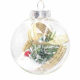 Ansenesna Weihnachtskugeln Zum Befüllen Plastik Transparent Weihnachten Kugeln Durchsichtig Christbaumkugeln Anhänger Weihnachtsbaum Deko - 1