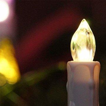 Aufun LED Kerzen 30 Stück Weihnachtskerzen mit Fernbedienung Warmweiß LED Kerzen Outdoor Weinachten LED für Weihnachtsbaum, Weihnachtsdeko, Hochzeitsdeko, Party, Feiertag - 8