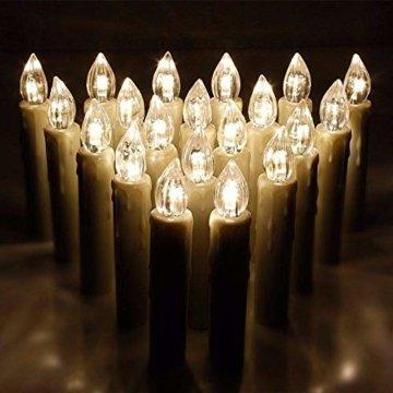Aufun LED Kerzen 30 Stück Weihnachtskerzen mit Fernbedienung Warmweiß LED Kerzen Outdoor Weinachten LED für Weihnachtsbaum, Weihnachtsdeko, Hochzeitsdeko, Party, Feiertag - 9