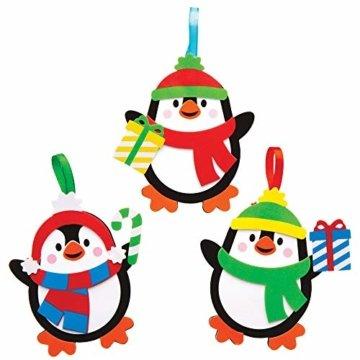 Baker Ross AT240 Weihnachtskugeln Mix & Match Pinguin (6 Stück) Christbaumschmuck Bastelset für Kinder, Sortiert - 3