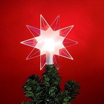 Baumspitze Top Star Clear | Beleuchtbar | Christbaumspitze | Weihnachtsbaumspitze | Stern - 3