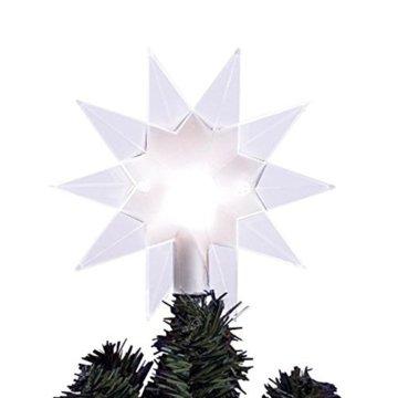 Baumspitze Top Star Clear   Beleuchtbar   Christbaumspitze   Weihnachtsbaumspitze   Stern - 1