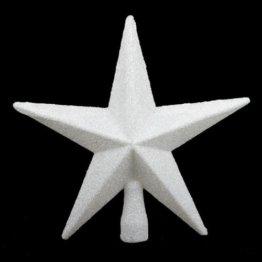 Baumspitze (Weiß Glitter Star 20 cm) - 1