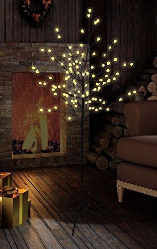 Bonetti LED Lichterbaum mit 200 warm-weißen Lichtern beleuchtet, 150 cm hoch, die Lichterzweige sind flexibel, Weihnachtsbaum mit Lichterkette - 4