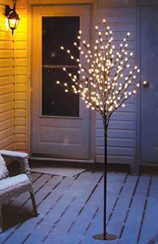 Bonetti LED Lichterbaum mit 200 warm-weißen Lichtern beleuchtet, 150 cm hoch, die Lichterzweige sind flexibel, Weihnachtsbaum mit Lichterkette - 1