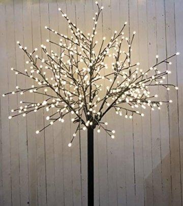 Bonetti LED Lichterbaum mit 500 warm-weißen Lichtern beleuchtet, 220 cm hoch, die Lichterzweige sind flexibel, Weihnachtsbaum mit Lichterkette - 4