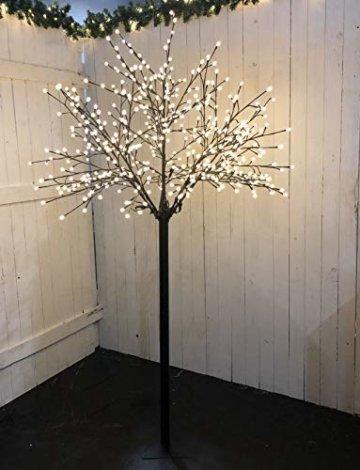 Bonetti LED Lichterbaum mit 500 warm-weißen Lichtern beleuchtet, 220 cm hoch, die Lichterzweige sind flexibel, Weihnachtsbaum mit Lichterkette - 1