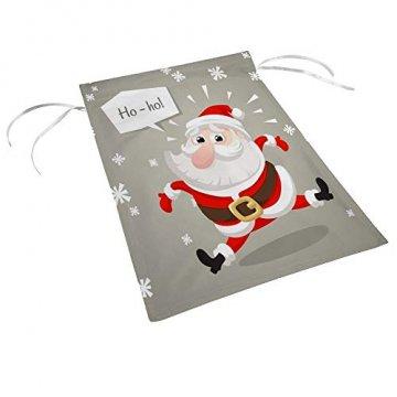 CHEHONG Garten-Flagge, Weihnachtsmann, Weihnachtsmann-Figur, langlebig, für den Außenbereich, Weihnachts-Motiv, Dekoration, Haus-Flagge, Polyester, 28X40 inch - 3