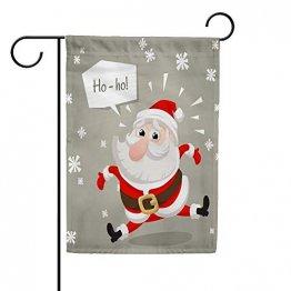 CHEHONG Garten-Flagge, Weihnachtsmann, Weihnachtsmann-Figur, langlebig, für den Außenbereich, Weihnachts-Motiv, Dekoration, Haus-Flagge, Polyester, 28X40 inch - 1