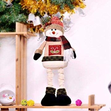chivalrylist Weihnachtsschmuck Puppen Weihnachtsschmuck Puppen Christbaumschmuck Weihnachtsschmuck Weihnachtsmann Schneemann - 2