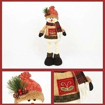 chivalrylist Weihnachtsschmuck Puppen Weihnachtsschmuck Puppen Christbaumschmuck Weihnachtsschmuck Weihnachtsmann Schneemann - 3