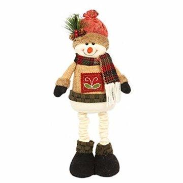 chivalrylist Weihnachtsschmuck Puppen Weihnachtsschmuck Puppen Christbaumschmuck Weihnachtsschmuck Weihnachtsmann Schneemann - 1
