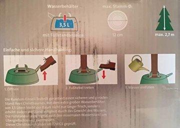 Christbaumständer Aqua, Fußpedal mit Hebelsicherung, mit Wasserbehälter (2.20) - 3