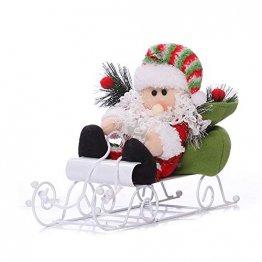 Fansi Weihnachtsmannfiguren für Kinder, Schneemobil, Weihnachtsmann, Puppen, Festival, Szene, Layout Requisiten für Geschenk, Weiß - 1