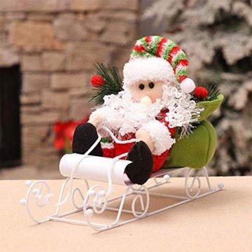 Fansi Weihnachtsmannfiguren für Kinder, Schneemobil, Weihnachtsmann, Puppen, Festival, Szene, Layout Requisiten für Geschenk, Weiß - 4