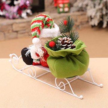 Fansi Weihnachtsmannfiguren für Kinder, Schneemobil, Weihnachtsmann, Puppen, Festival, Szene, Layout Requisiten für Geschenk, Weiß - 8