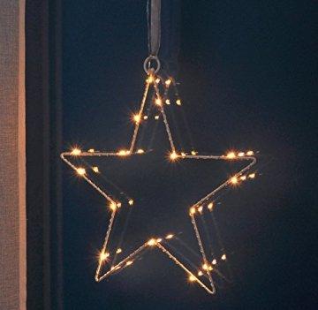 Fenster-Silhouette Stern 30 cm beleuchtet (76506) Weihnachtsdeko Fensterdeko - 1