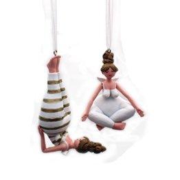 Gall&Zick Dekofigur Yoga Engel Weihnachtsdeko Hänger Christbaumschmuck Dekoration Set/2 - 1